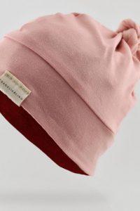 Produktbild Knotenbeanie Zartrosa-Schwedenrot